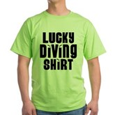 Lucky Diving Shirt Green T-Shirt