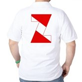 Scuba Flag Letter Z Golf Shirt