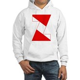 Scuba Flag Letter Z Hooded Sweatshirt