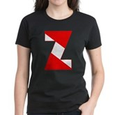Scuba Flag Letter Z Women's Dark T-Shirt