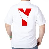 Scuba Flag Letter Y Golf Shirt