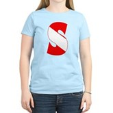 Scuba Flag Letter S Women's Light T-Shirt