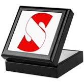 Scuba Flag Letter S Keepsake Box