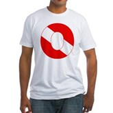 Scuba Flag Letter O Fitted T-Shirt