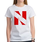 Scuba Flag Letter N Women's T-Shirt