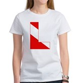 Scuba Flag Letter L Women's T-Shirt