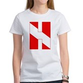 Scuba Flag Letter H Women's T-Shirt