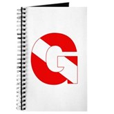 Scuba Flag Letter G Journal