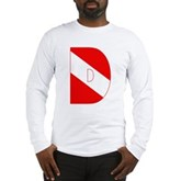 Scuba Flag Letter D Long Sleeve T-Shirt