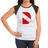 Scuba Flag Letter D Women's Cap Sleeve T-Shirt