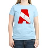 Scuba Flag Letter A Women's Light T-Shirt