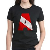 Scuba Flag Letter A Women's Dark T-Shirt