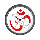 Scuba Flag Om / Aum Wall Clock