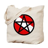 Scuba Flag Pentagram Tote Bag