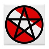 Scuba Flag Pentagram Tile Coaster