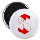 Scuba Flag Dollar Sign Magnet