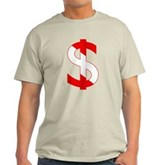 Scuba Flag Dollar Sign Light T-Shirt