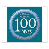 100 Dives Milestone Small Poster
