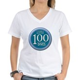 100 Dives Milestone Women's V-Neck T-Shirt