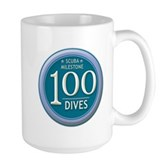 100 Dives Milestone Large Mug
