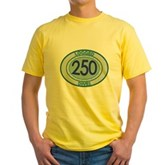 250 Logged Dives Yellow T-Shirt