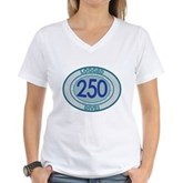 250 Logged Dives Women's V-Neck T-Shirt