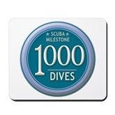 1000 Dives Milestone Mousepad