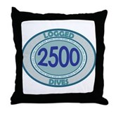 2500 Logged Dives Throw Pillow