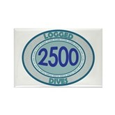 2500 Logged Dives Rectangle Magnet