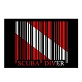 Barcode Dive Flag Postcards (Package of 8)
