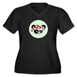 Pirate Panda Women's Plus Size V-Neck Dark T-Shirt