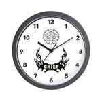 Fire Chief Tattoo Wall Clock