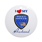 Police Husband Ornament (Round)