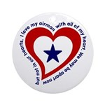 Heart service Flag - Airman Keepsake (Round)