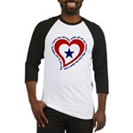 Heart service Flag - Airman Baseball Jersey