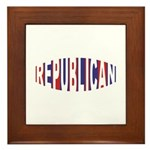 Republican Bulge Framed Tile