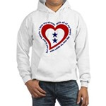 2 Star Service Flag - Airmen Hooded Sweatshirt
