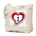 2 Star Service Flag - Airmen Tote Bag