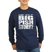 BIG PISH Story Long Sleeve Dark T-Shirt