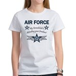 Air Force Grandchild defending Women's T-Shirt