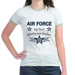 Air Force Dad defending Jr. Ringer T-Shirt