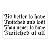 Twitched & Lost... Rectangle Sticker