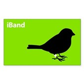  iBand (green) Rectangle Sticker