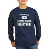 Rescue Diving Department Long Sleeve Dark T-Shirt