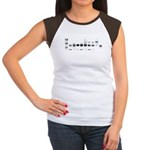 Women's Cap Sleeve T-Shirt : Sizes S (4-6),M (8-10),L (12-14),XL (16-18),XXL (20-22)  Available colors: Black/White,Red/White,Brown/White