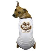 This dog shirts says Another Mutt For Obama, backed by a big dog paw print. A cute t-shirt for your beloved Mutt to wear, out on a walk or at your next political rally! Support Barack Obama in 2008!