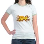 Jr. Ringer T-Shirt : Sizes S,M,L,XL  Available colors: Pink/Salmon,Yellow/Gold,Mint/Avocado