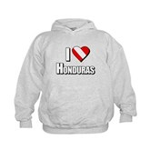  Scuba: I Love Honduras Kids Hoodie