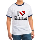  Scuba: I Love Honduras Ringer T