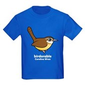 Birdorable Carolina Wren Kids Dark T-Shirt